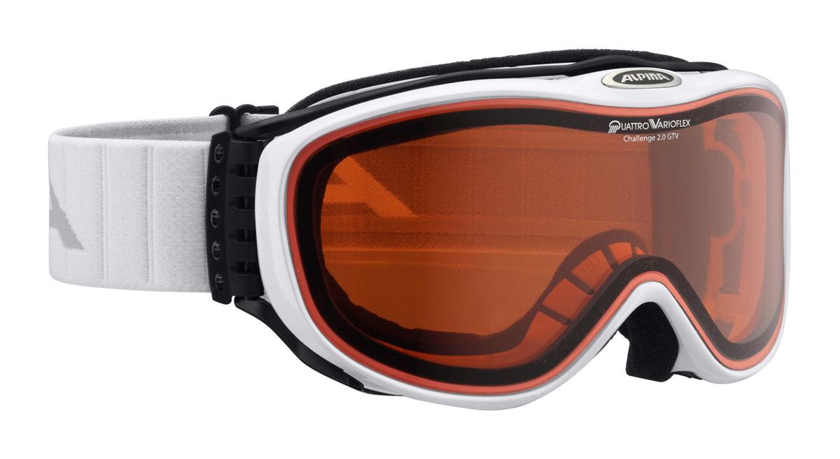 Очки горнолыжные Alpina Challenge 2.0 DH, цвет: белый