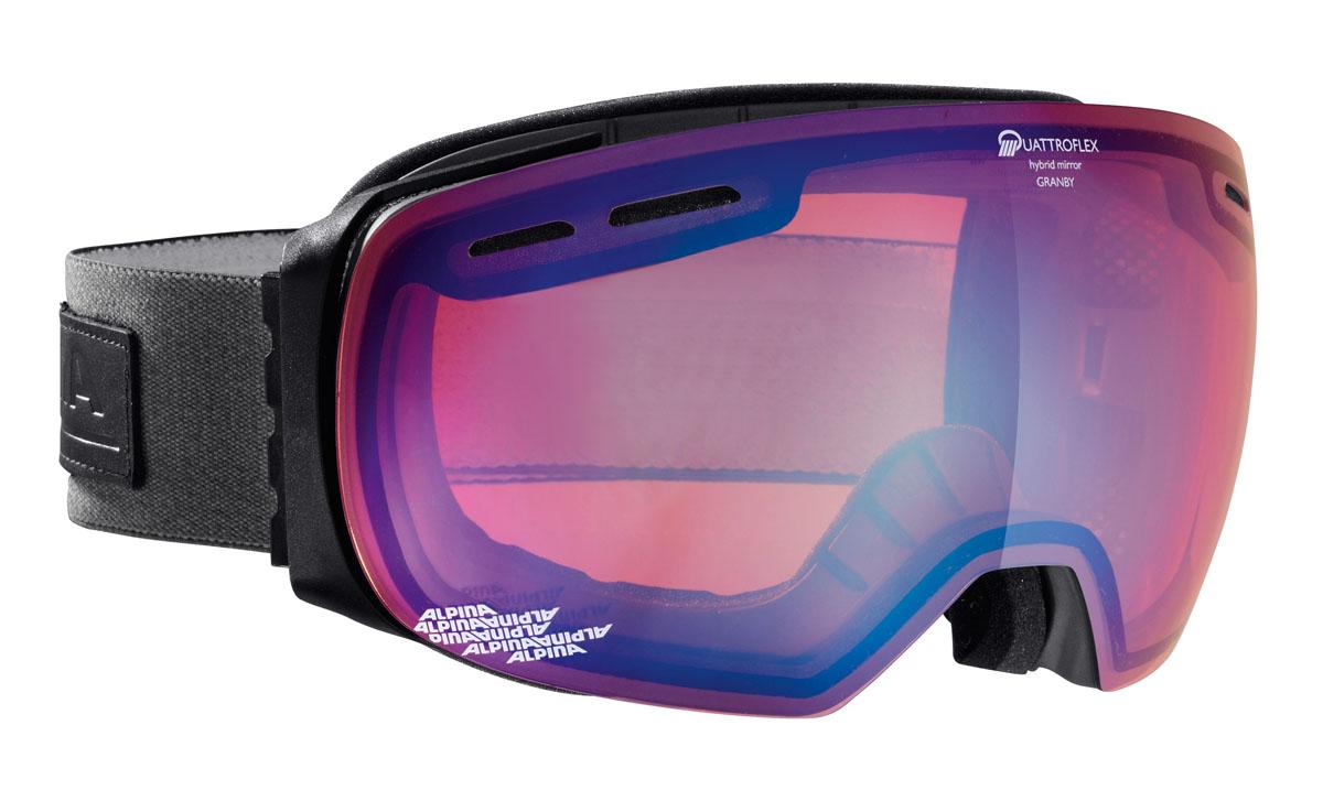 """Очки горнолыжные Alpina """"Granby QM"""", цвет: серый, белый, розовый"""