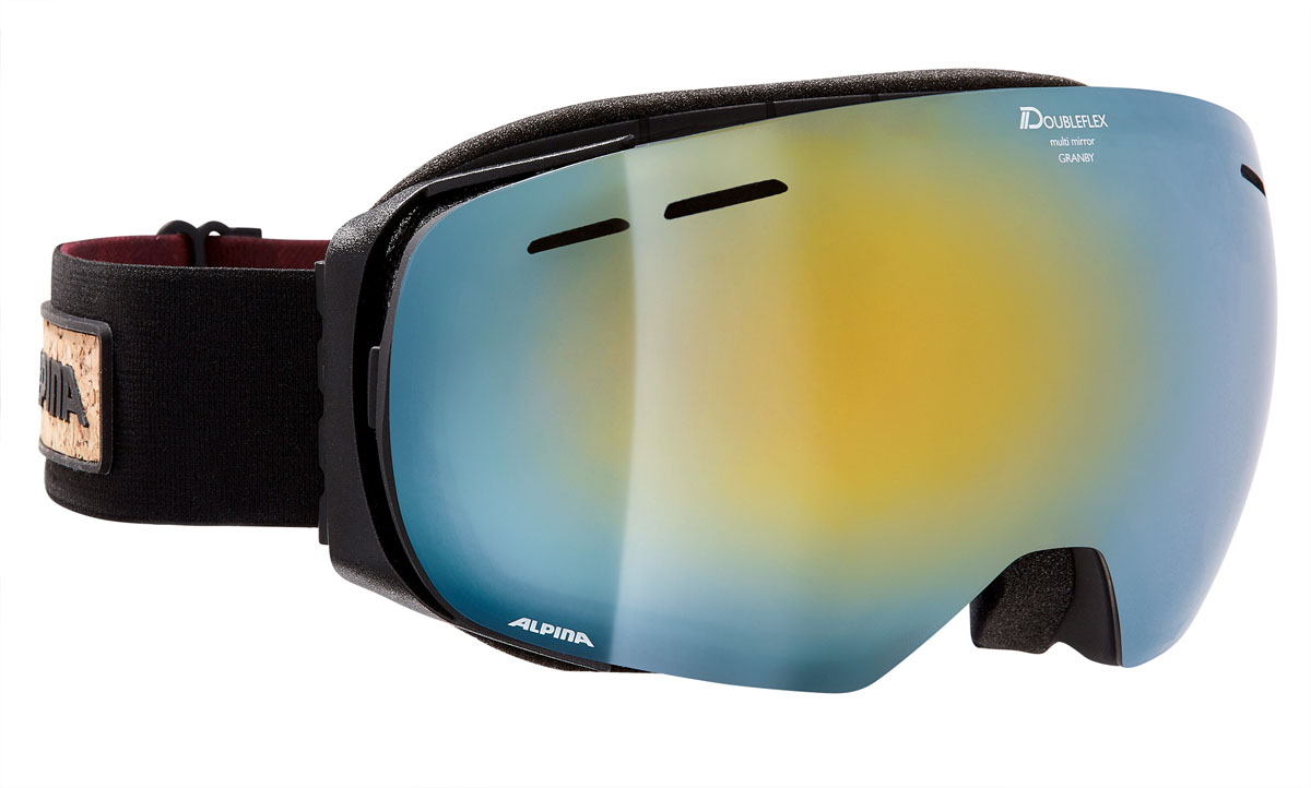 """Очки горнолыжные Alpina """"Granby MM"""", цвет: черный, красный, синий"""