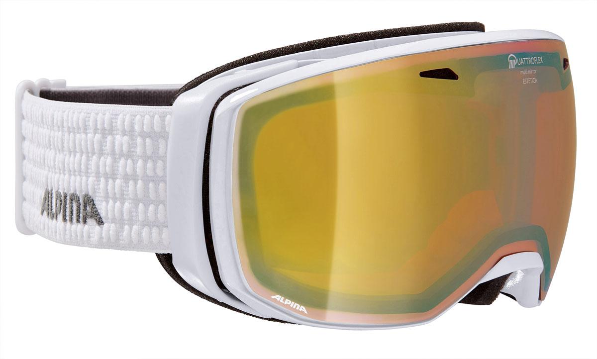Очки горнолыжные Alpina ESTETICA QMM white/grey (white dots) (M30)
