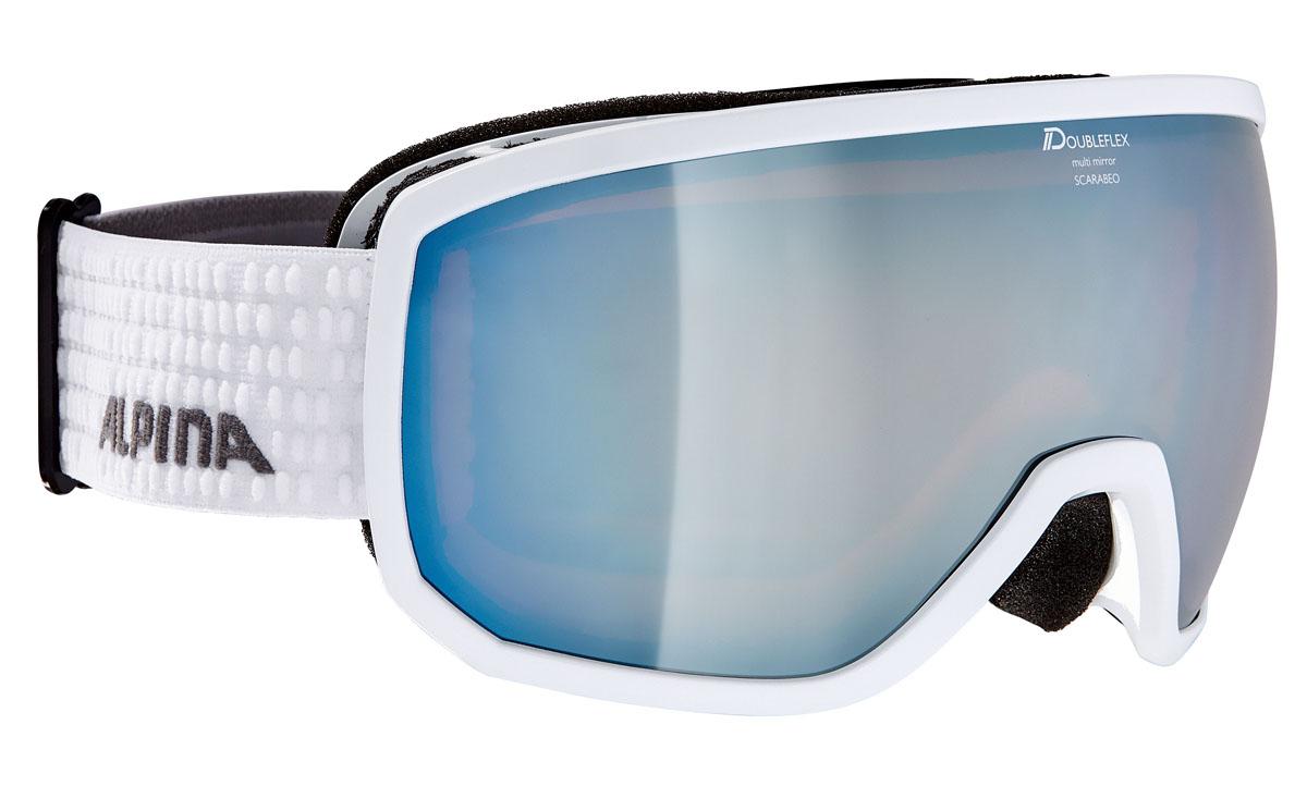 Очки горнолыжные Alpina SCARABEO MM white/grey (white dots) (L50) alpina горнолыжные очки alpina scarabeo jr dh розовые