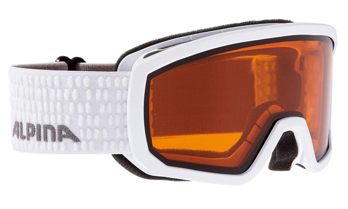 Очки горнолыжные Alpina Scarabeo JR. DH, цвет: белый, серый велосипедные очки alpina pheso p цвет оправы серый