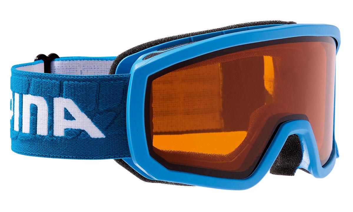 Очки горнолыжные Alpina Scarabeo JR. DH, цвет: синий, белый alpina горнолыжные очки alpina scarabeo jr dh розовые