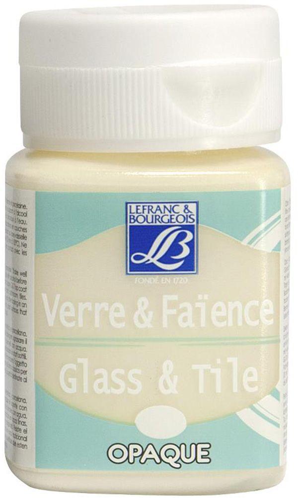 Краска по стеклу и керамике Lefranc & Bourgeois Glass&Tile, непрозрачная, цвет: слоновая кость (019), 50 мл random cartoon ceramic tile decal 1pc