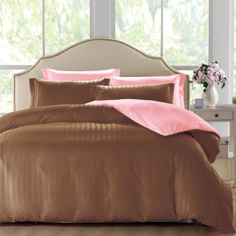 """Комплект белья ЭГО """"Мурсия"""", 1,5-спальный, наволочки 70x70, цвет: коричневый"""