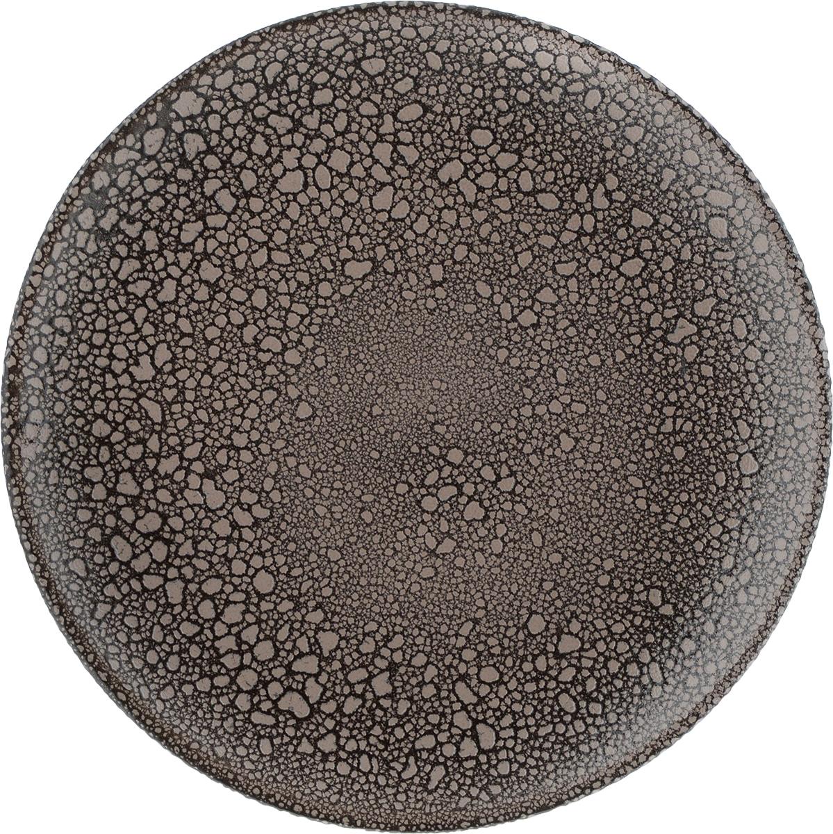 """Тарелка """"Борисовская керамика"""", цвет: коричневый, серо-бежевый, диаметр 23 см. МРМ00000806"""