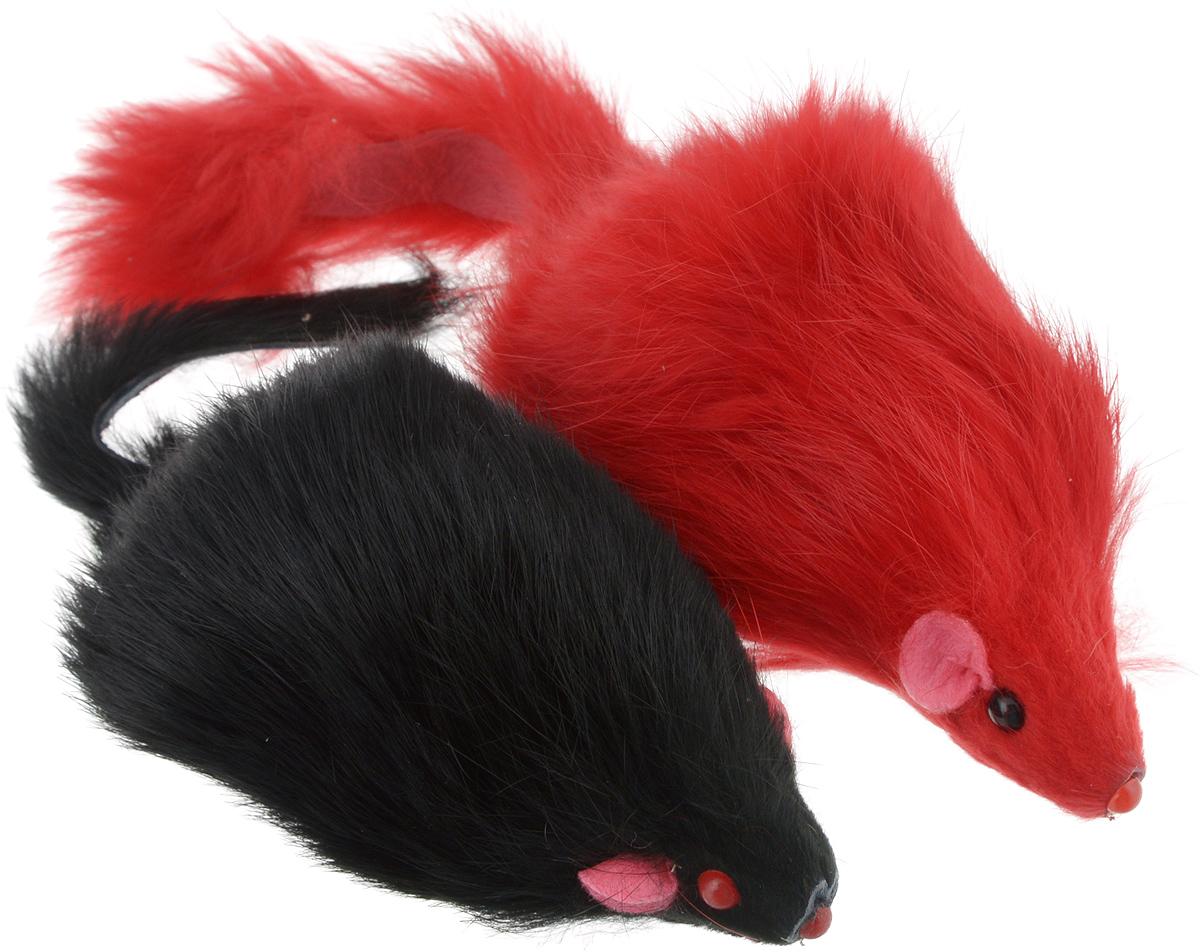 """Игрушка для кошек Triol """"Мышь"""", цвет в ассортименте, 2 шт"""