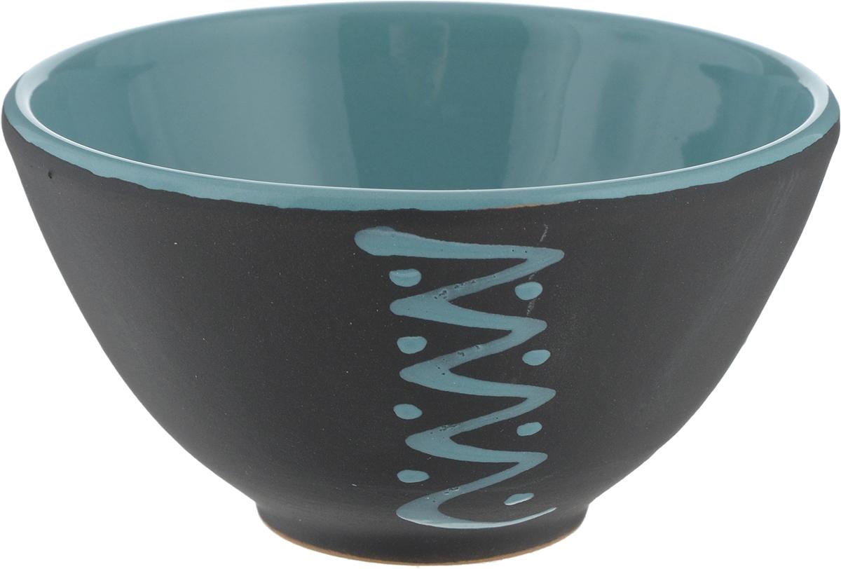 Пиала Борисовская керамика Классика, цвет: черный, бирюзовый, 250 мл пиала борисовская керамика классика 250 мл мрм14458418