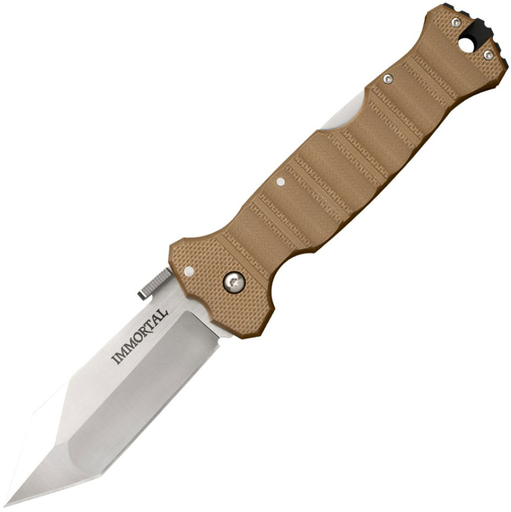Нож складной Cold Steel Immortal, цвет: коричневый, общая длина 22,9 см