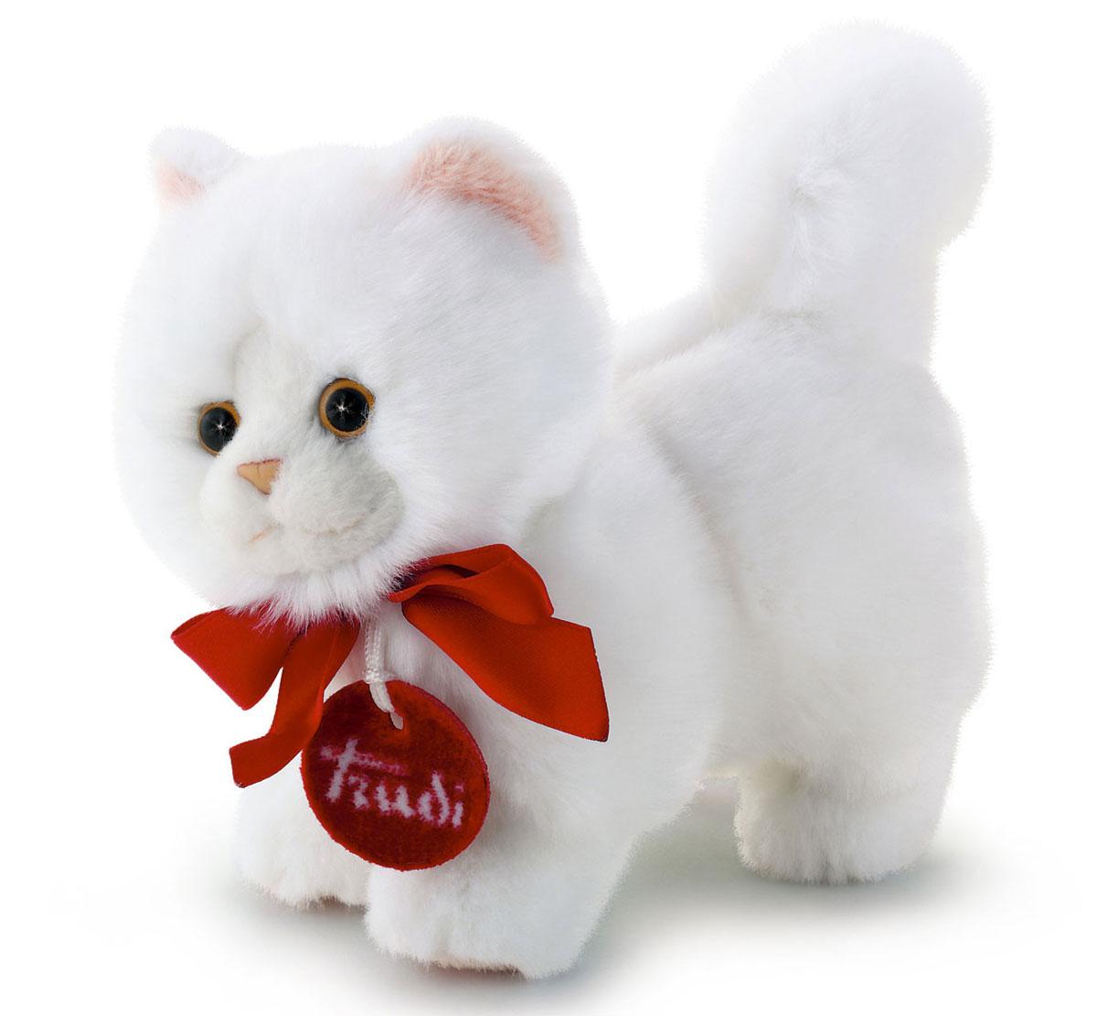 Trudi Мягкая игрушка Белая кошечка делюкс 15 см