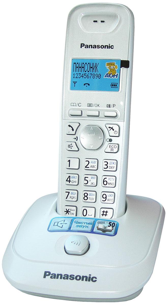 Радиотелефон Panasonic KX-TG2511RUW, белый радиотелефон