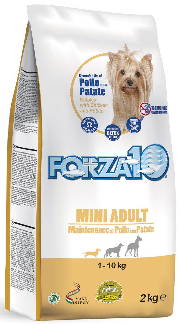 """Корм сухой Forza10 """"Maintenance"""", для взрослых собак мелких пород, с курицей и картофелем, 2 кг"""