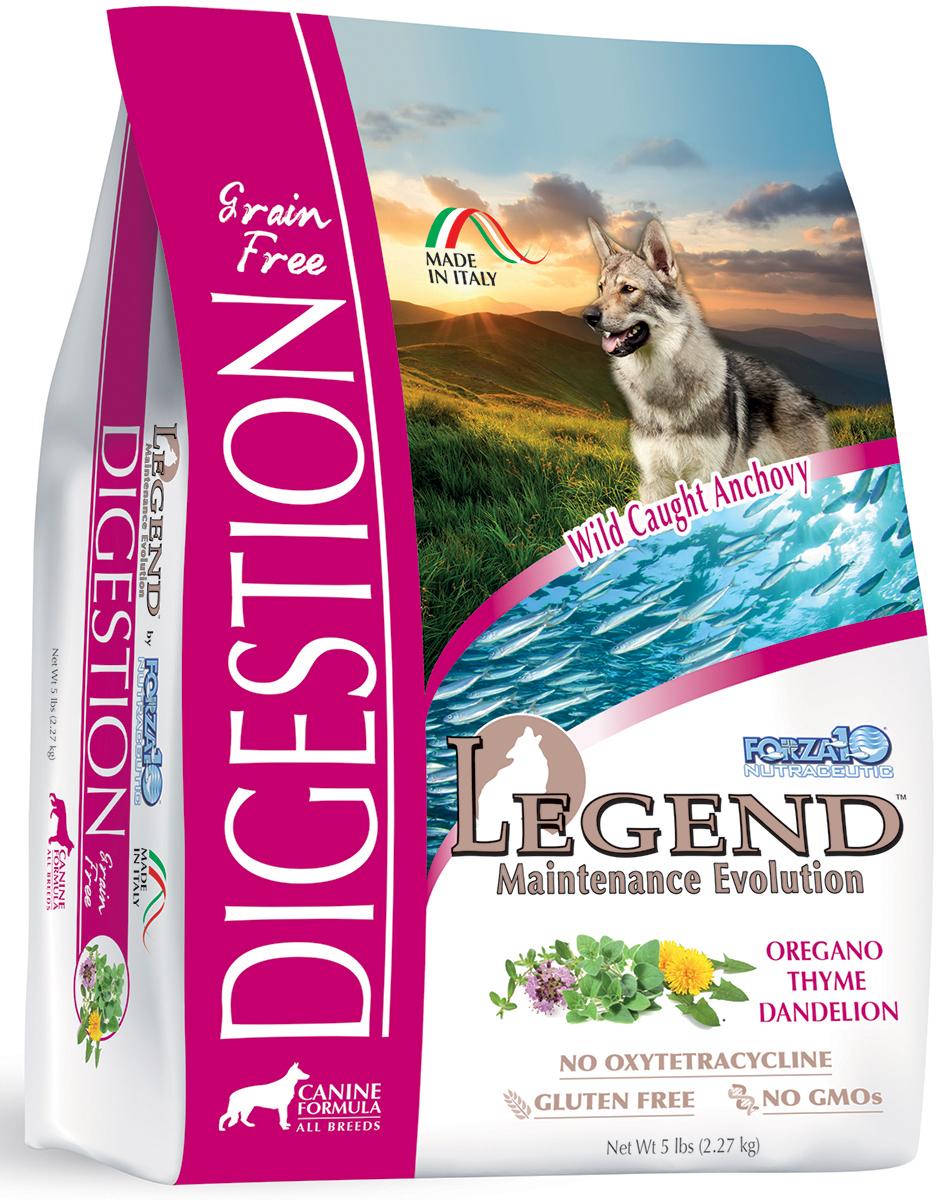 Корм сухой Forza10 Legend беззерновой для взрослых собак с чувствительным пищеварением и после терапии заболеваний пищеварительной системы, 2,27 кг д симпсон р элс болезни пищеварительной системы собак и кошек