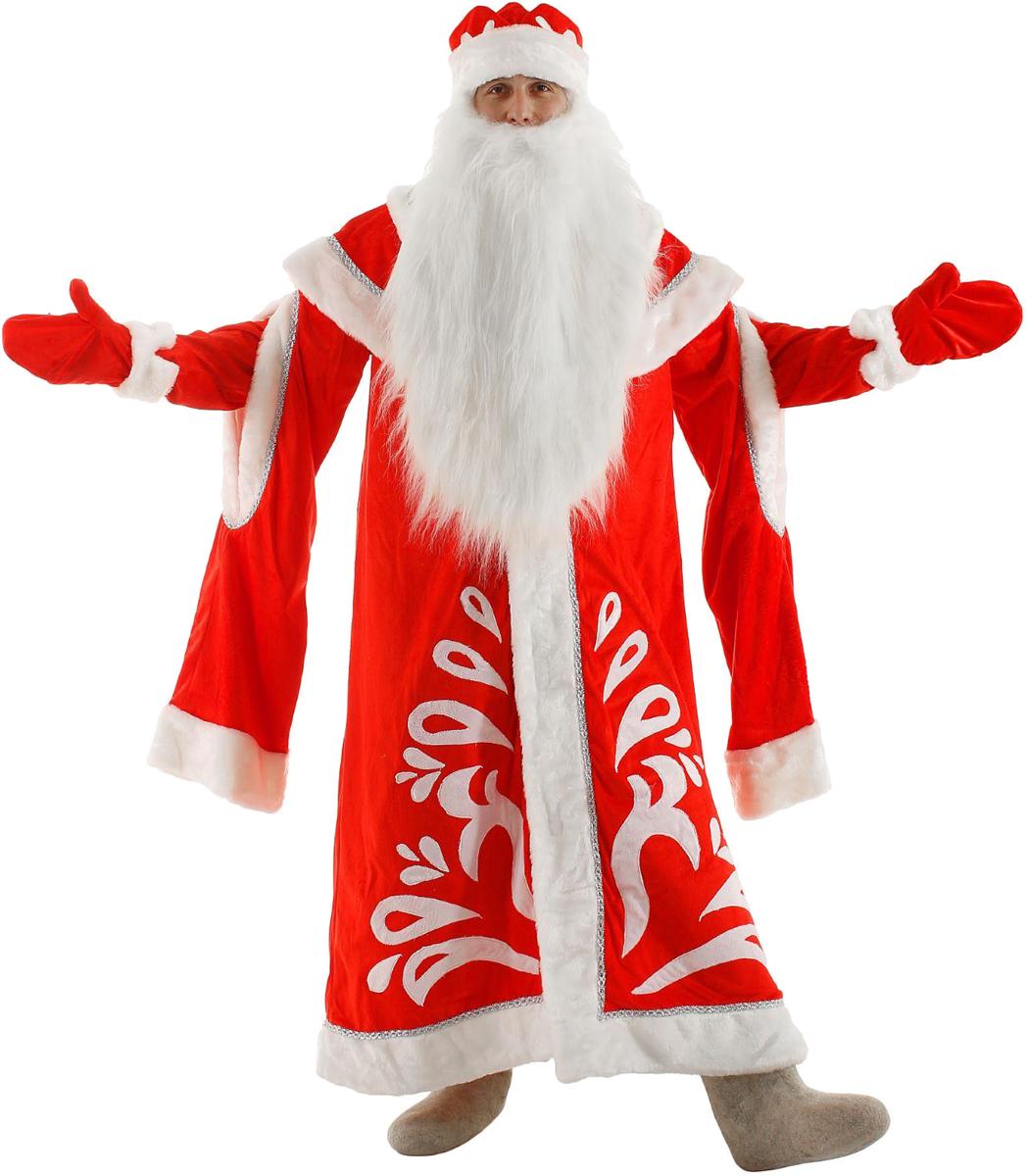 Карнавальный костюм Бока Дед Мороз, цвет: красный. Размер 52/54. 1577028 карнавальный костюм бока дед мороз цвет синий размер 52 54 1828064