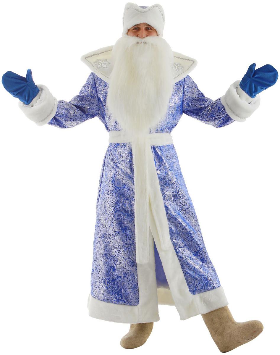 Карнавальный костюм Бока Дед Мороз, цвет: синий. Размер 52/54. 1828064 костюм карнавальный батик дед мороз цвет серебристый синий размер 54 56 354461