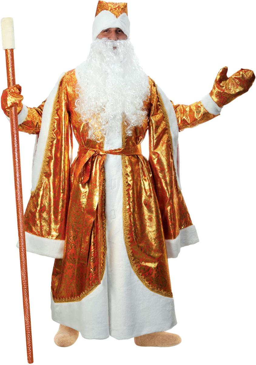 Карнавальный костюм Страна Карнавалия Дед Мороз, цвет: золотой. Размер 52/54 карнавальный костюм бока дед мороз цвет синий размер 52 54 1828064