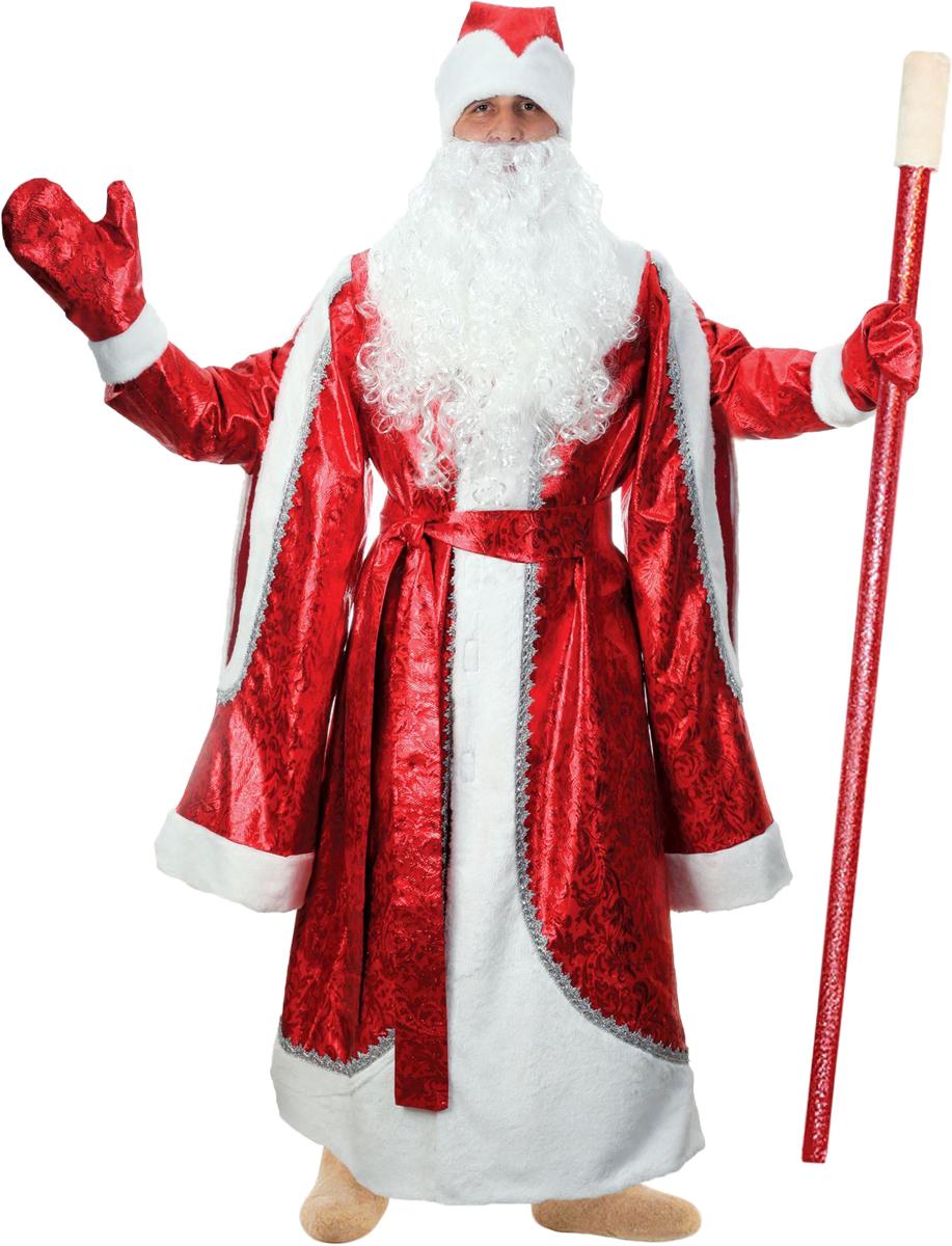 Карнавальный костюм Страна Карнавалия Дед Мороз, цвет: красный. Размер 48/50 карнавальный костюм бока дед мороз цвет синий размер 52 54 1828064