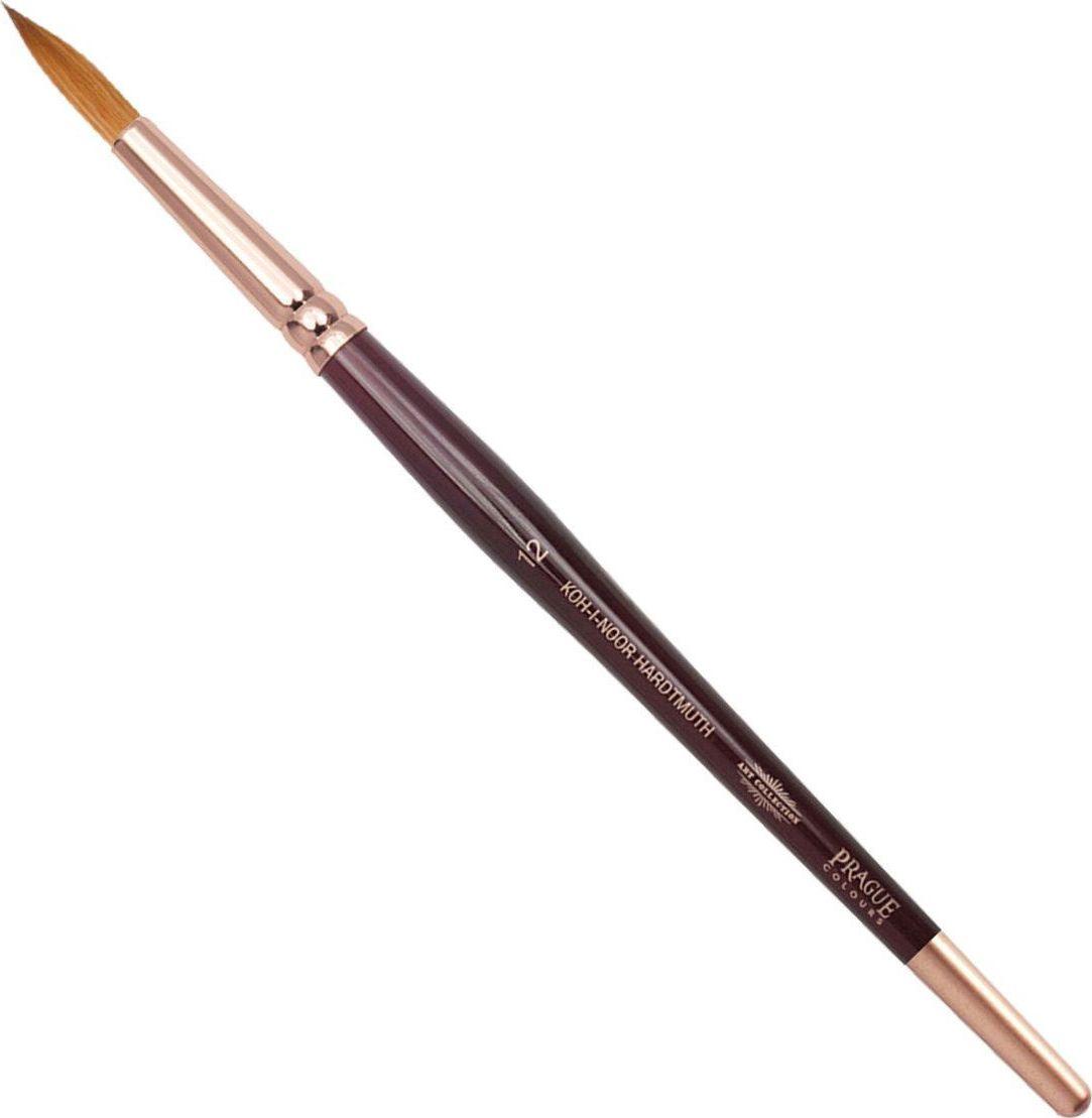 Koh-I-Noor Кисть колонок круглая №12 короткая ручка 200404190985Высококачественная кисть  Koh-i-Noor выполнена из натурального волоса колонка. Волос прекрасно сохраняет форму, не ломается, впитывает влагу и хорошо моется под проточной струей воды. Подходит для акварели и индийских красок.