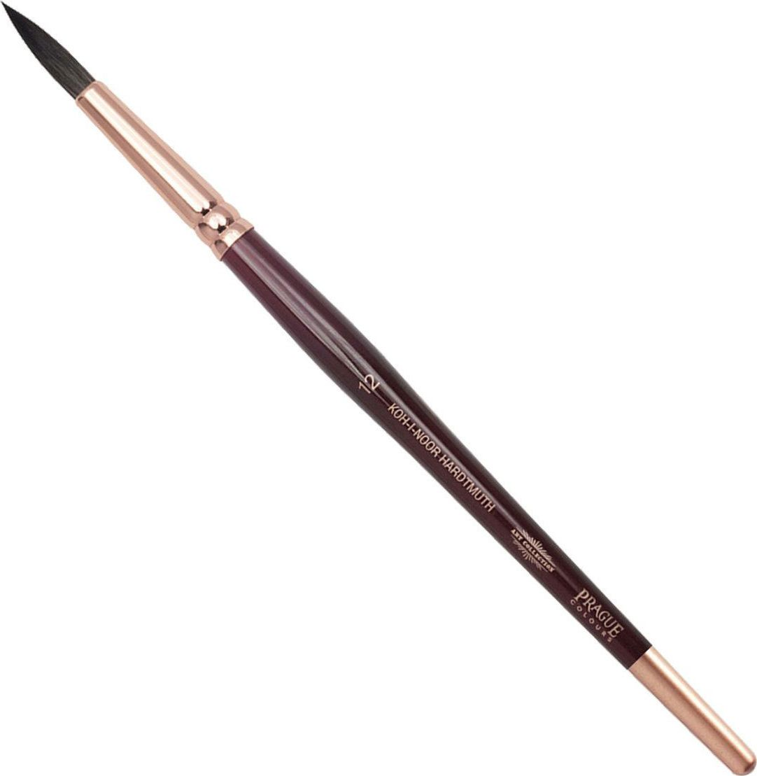 Koh-I-Noor Кисть белка круглая №12 короткая ручка 200405 кисть белка живописная круглая из натурального волоса белки 6 блистер ab006so