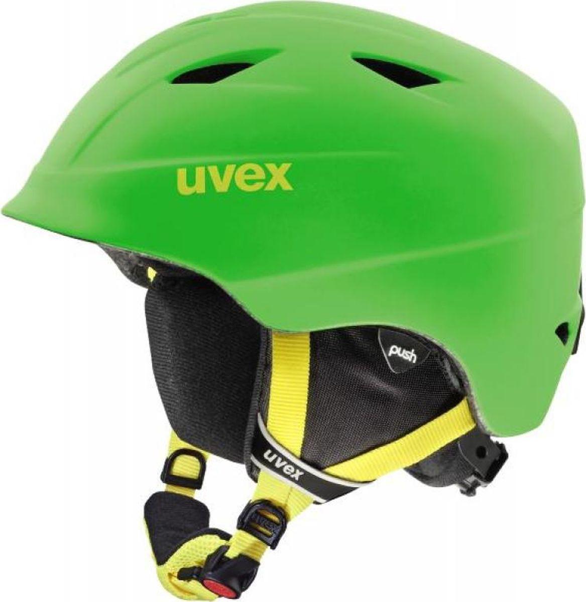 Шлем горнолыжный детский Uvex Airwing 2, цвет: зеленый матовый. Размер XXXS/XXS шлем горнолыжный для мальчика uvex airwing 2 kid s helmet 6132 46 синий размер xxs