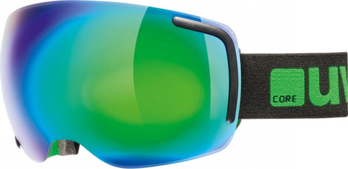 Маска горнолыжная Uvex Big 40 FM Ski Mask, цвет: черный, зеленый матовый uvex маска uvex cevron