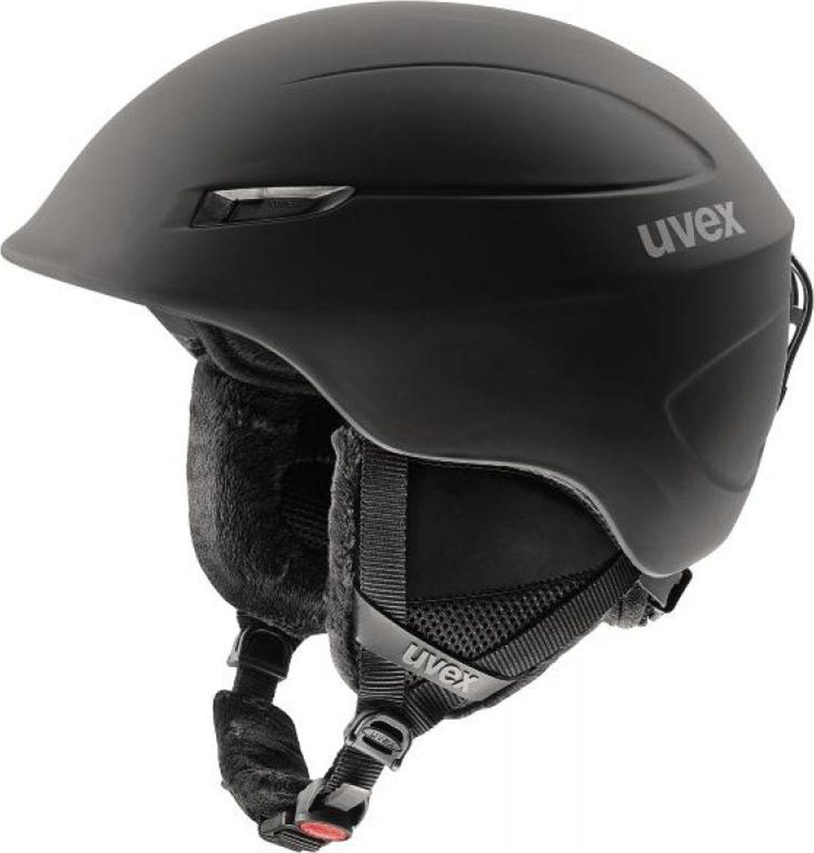 Шлем горнолыжный Uvex Oversize Helmet, цвет: черный матовый. Размер 60/64 шлем горнолыжный для мальчика uvex airwing 2 kid s helmet 6132 46 синий размер xxs