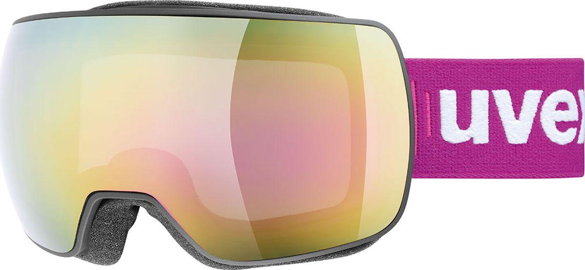 Маска горнолыжная Uvex compact FM Ski Mask, цвет: черный матовый uvex маска горнолыжная детская uvex flizz lm