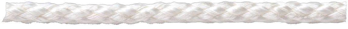 Веревка Стройбат, хлопковая, плетеная, цвет: белый, 4 мм, 30 м веревка бельевая axentia цвет красный длина 30 м