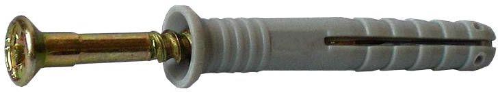 Дюбель-гвоздь Стройбат, с потайной головкой, 8х120, 2 шт2720811Предназначен для быстрого монтажа. Дюбели с потайной головкой используется в местах, где требуется спрятать головку шурупа в один уровень со стеной.