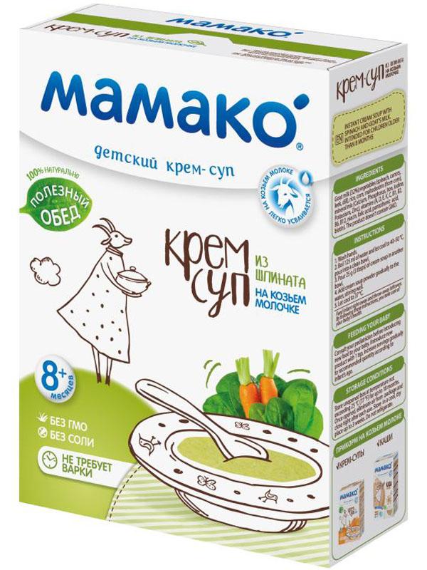 Мамако Детский крем-суп из шпината на козьем молочке, 150 г