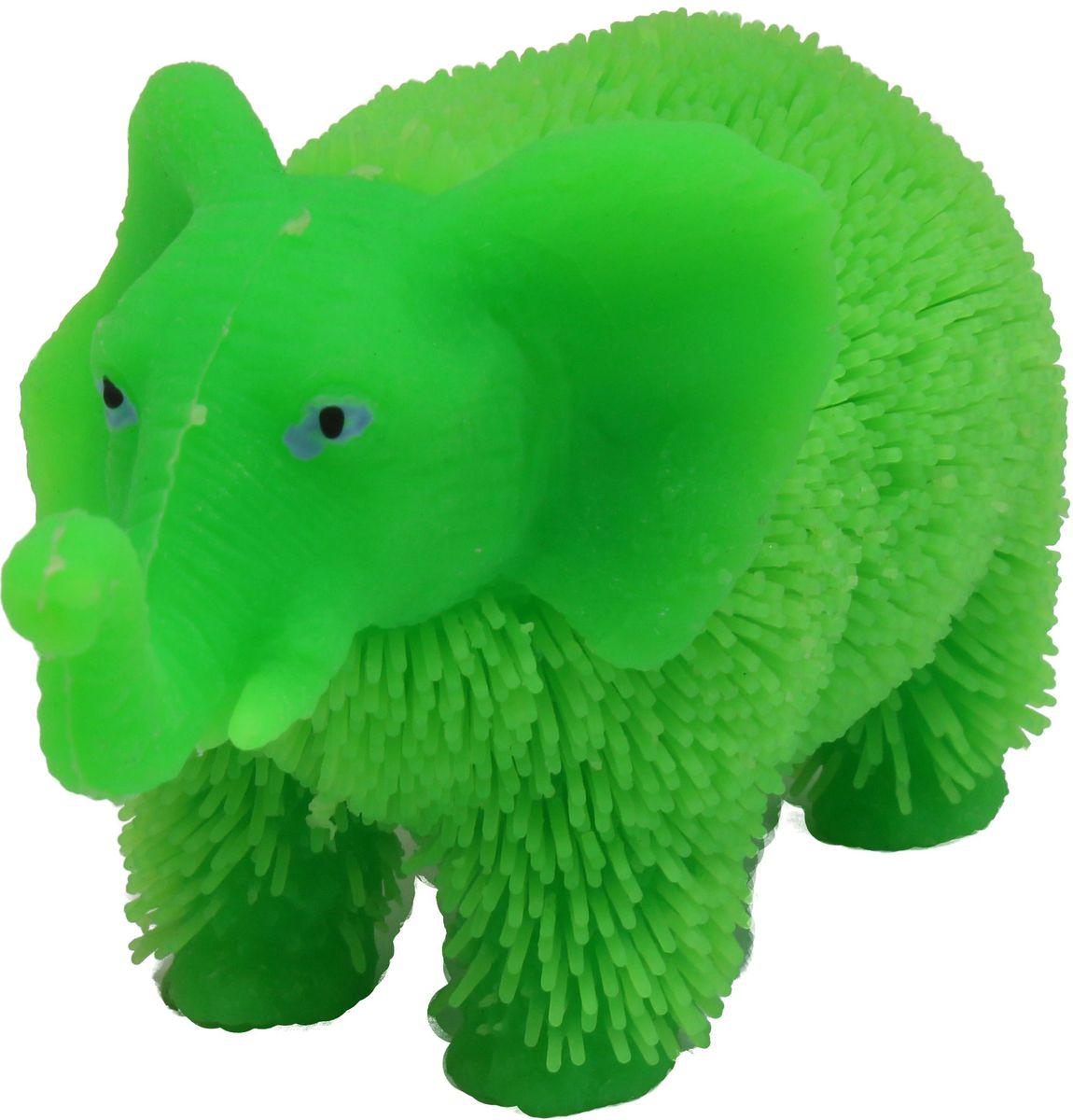 1TOY Антистрессовая игрушка Нью-Ёжики Слоник цвет зеленый