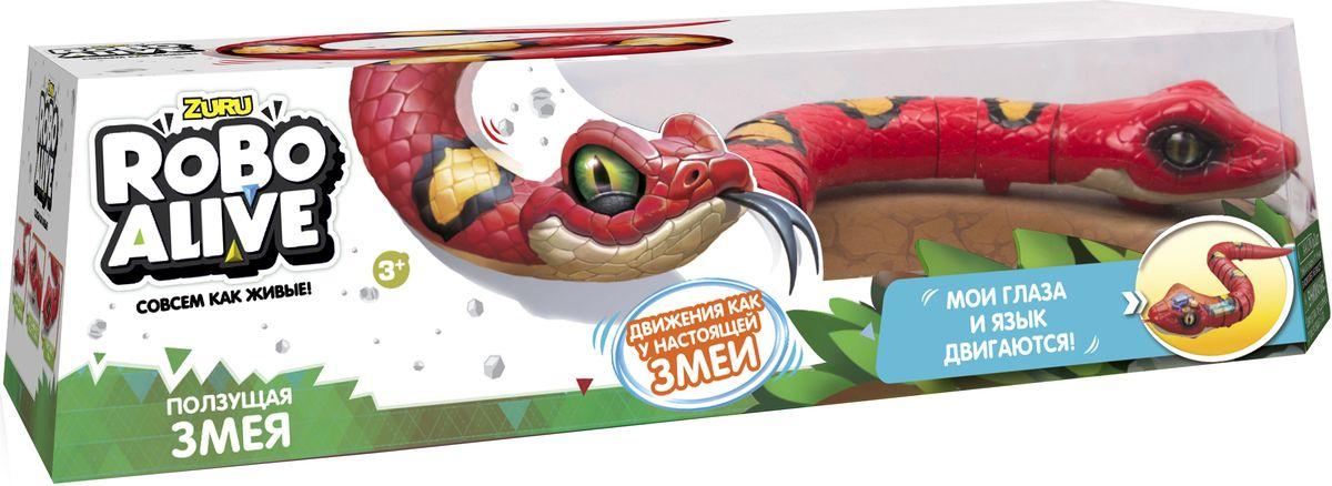 Zuru Интерактивная игрушка Робо-змея RoboAlive цвет красный