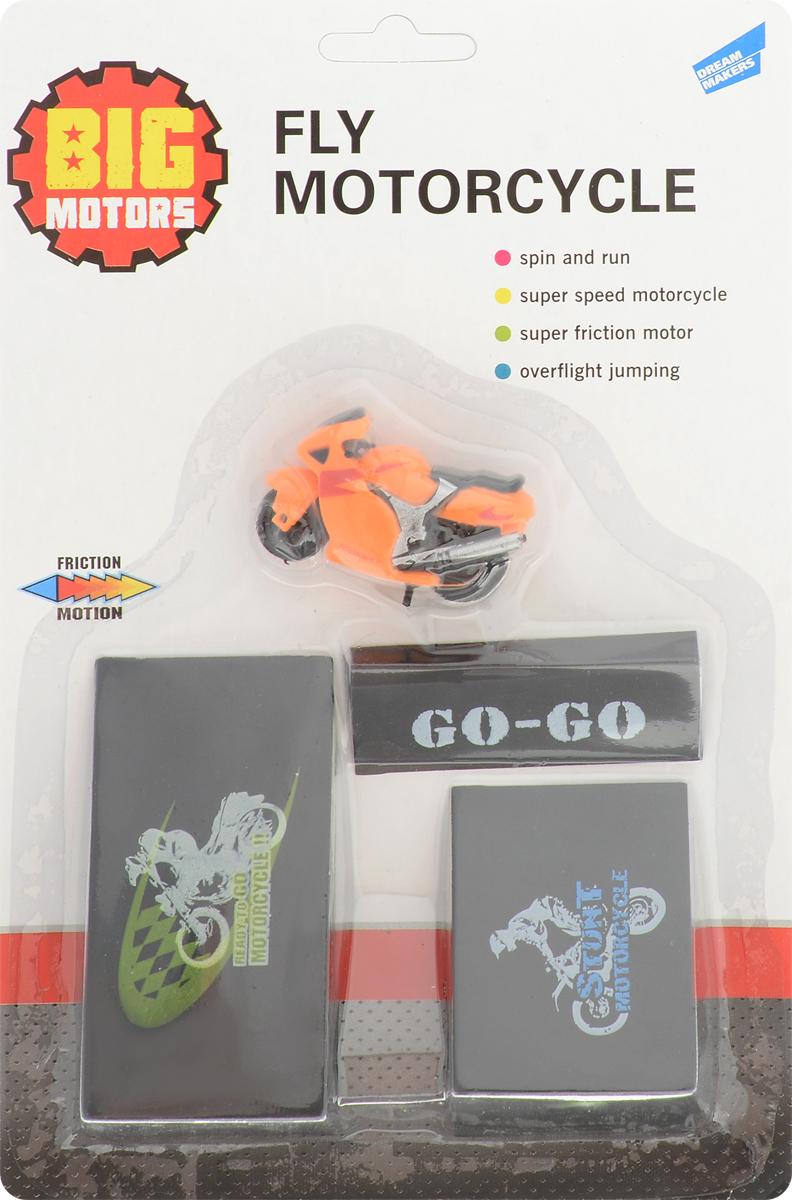 Big Motors Игрушечный трек Суперскоростной мотоцикл цвет оранжевый