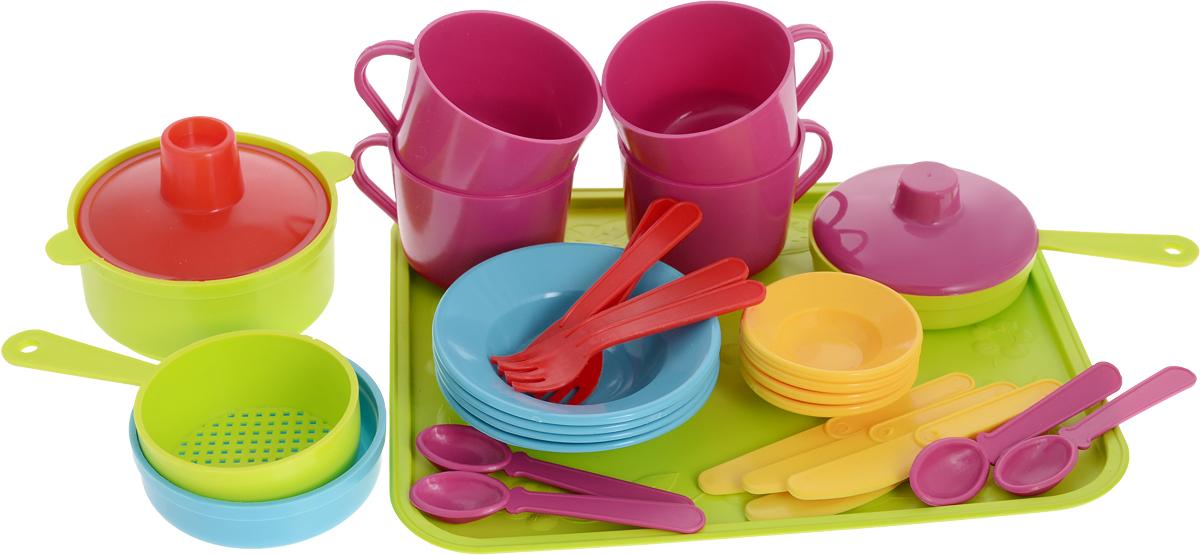 Фото - РосИгрушка Набор игрушечной посуды Сели поели наборы в песочницу росигрушка клубника 1шт