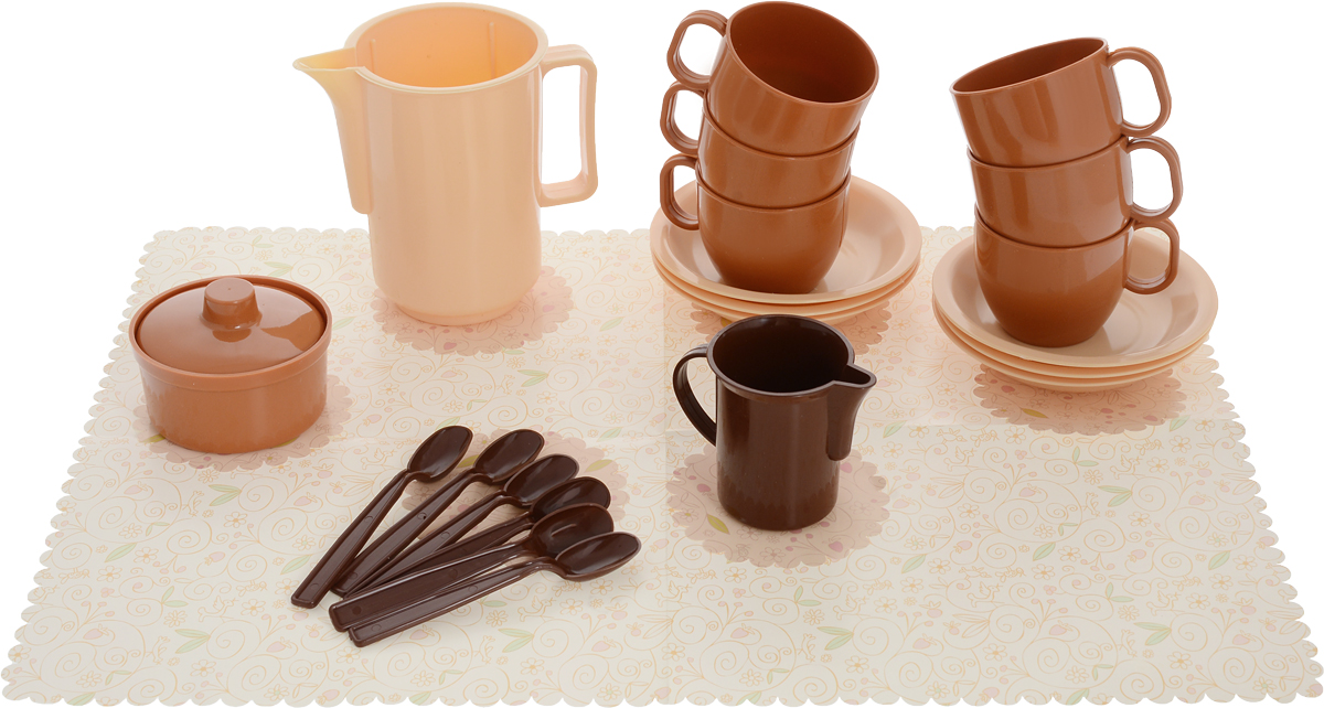 РосИгрушка Игрушечный кофейный набор Шокко кофейный набор кофе segafredo с кофейной парой чашек