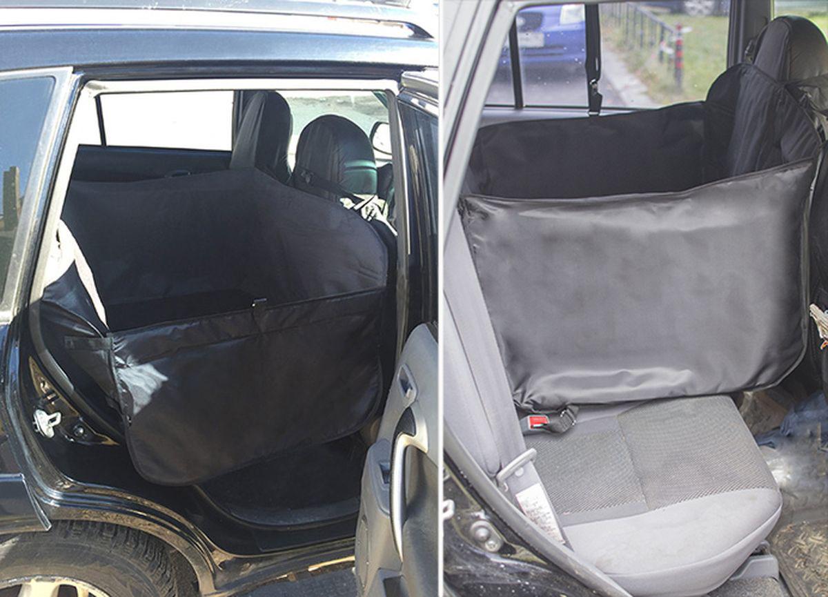 Автогамак для перевозки крупных собак Auto Premium, суперусиленный, с защитой дверей. 77044 автогамак auto premium для перевозки некрупных собак