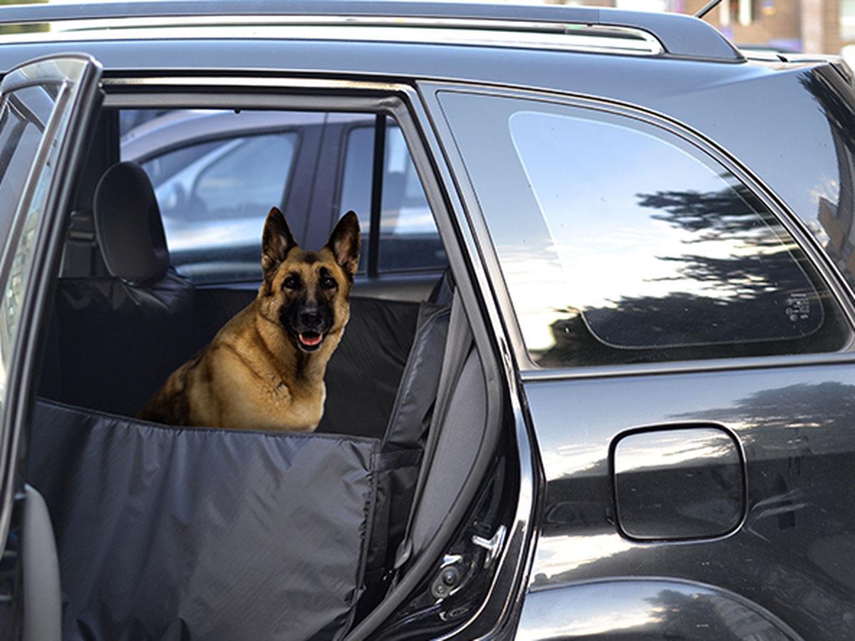Автогамак для перевозки крупных собак Auto Premium, от 20 кг, с защитой дверей. 77045 автогамак auto premium для перевозки некрупных собак
