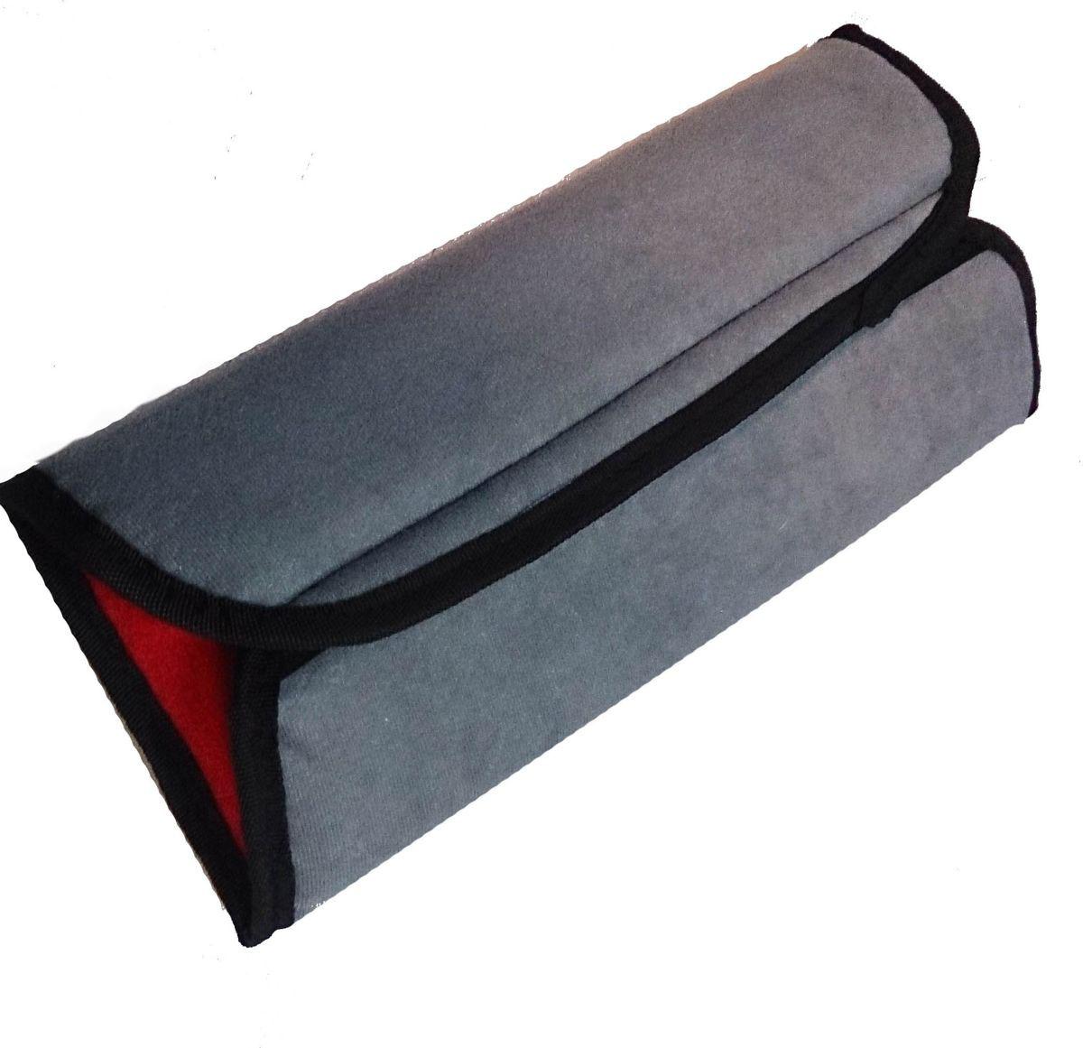 Накладка-подушка на ремень безопасности двухсторонняя Auto Premium, цвет: серый, красный. 77158 цена