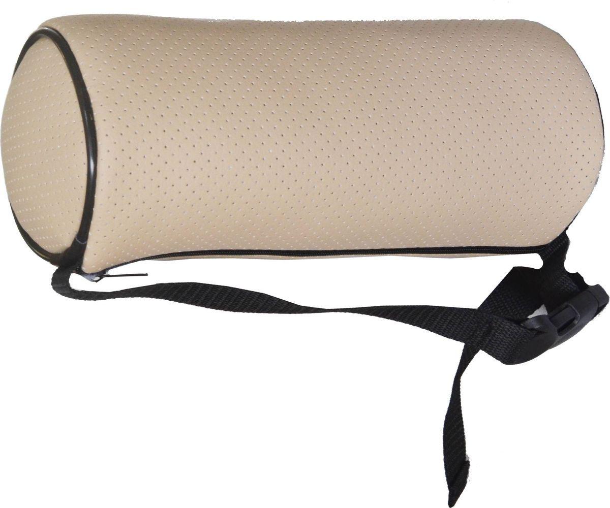 Подушка на подголовник Auto Premium, цвет: бежевый, 10 см. 77192 подушка на подголовник auto premium nissan цвет бежевый 37583