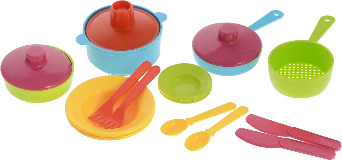 РосИгрушка Набор игрушечной посуды Щи да каша росигрушка игровой набор радуга