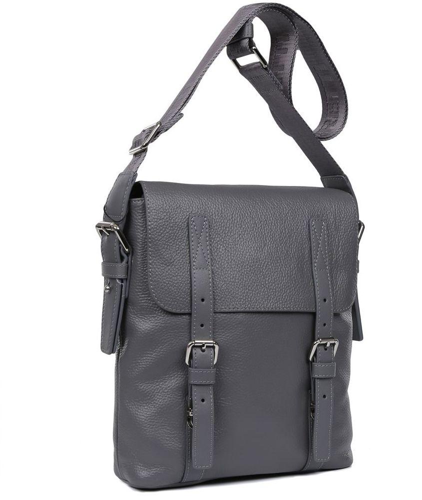 купить Сумка-планшет мужская Fabretti, цвет: серый. LRB132 по цене 7050 рублей