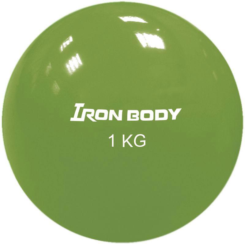 Медицинбол Iron Body 1792EG-2, цвет: зеленый, 1 кг гиря iron head лев 16 0 кг