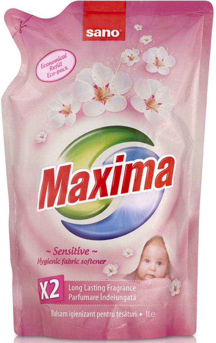 Кондиционер для белья Sano Maxima Sensitive, 1 л гель для стирки sano coldwater sensitive концентрированный 2 л