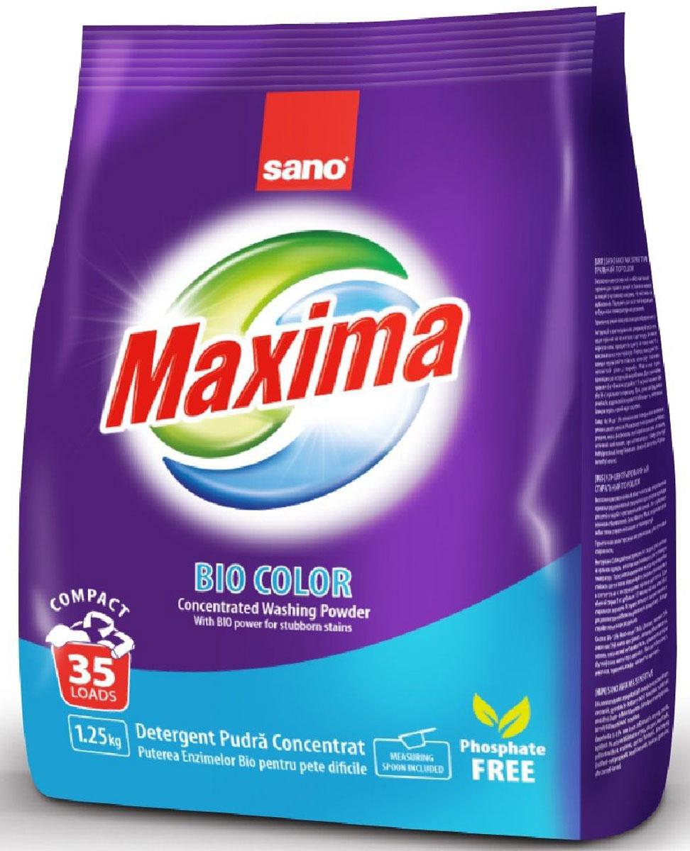 Порошок стиральный Sano Maxima Bio, концентрат, 1,25 кг гель для стирки sano coldwater sensitive концентрированный 2 л