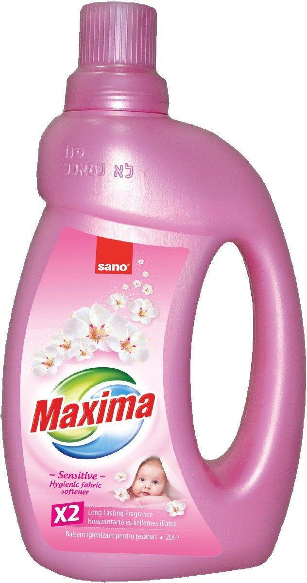 Кондиционер для белья Sano Maxima Sensitive, 2 л гель для стирки sano coldwater sensitive концентрированный 2 л