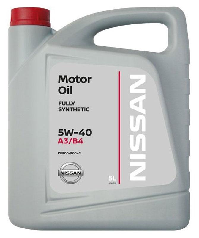"Масло моторное ""Nissan"", синтетическое, класс вязкости 5W-40, 5 л"