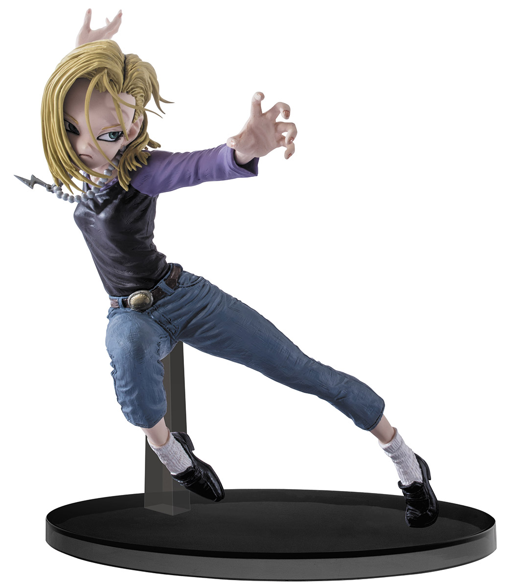 Bandai Фигурка Dragon Ball Z Colosseum SCultures Big Budoukai 6 Vol.3 Android 18 model fans 2pcs set dragon ball z original banpresto scultures zoukei tenkaichi budoukai 5 figures nappa