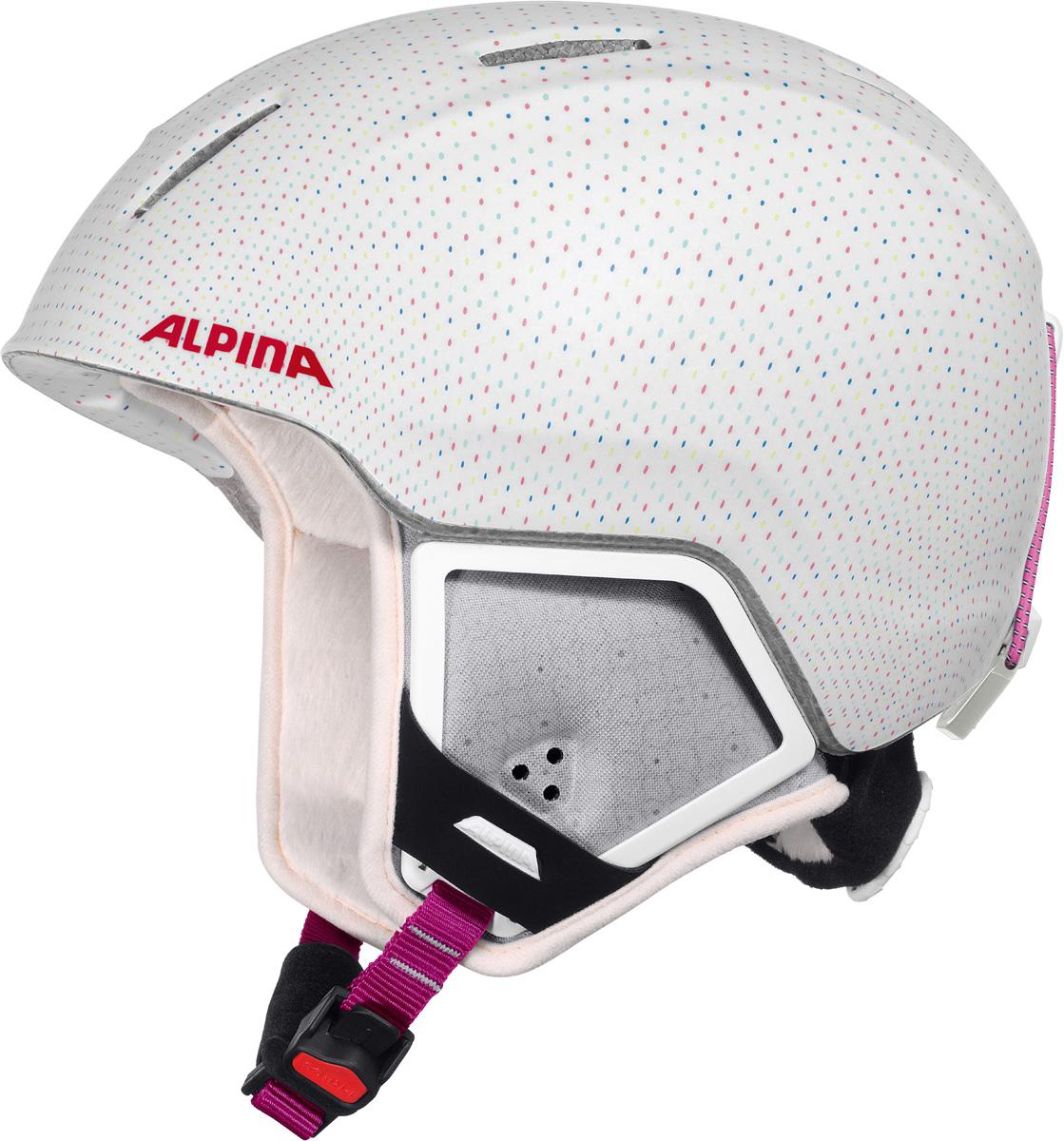 """Шлем горнолыжный детский Alpina """"Carat XT"""", цвет: белый. A9080_11. Размер 54-58"""