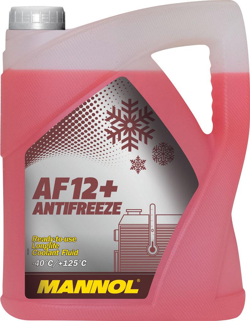 """Антифриз MANNOL """"AF-12+ -40°C Longlife"""", готовый, 5 л"""