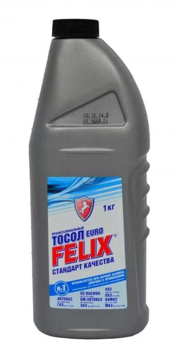 Тосол Felix Euro, -35°C, 1 кг жидкость охлаждающая тосол 45 felix 5 кг